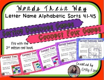 Words Their Way - GAME BUNDLE - Letter Name Alphabetic - Sorts 41 - 45