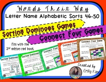 Words Their Way - GAME BUNDLE - Letter Name Alphabetic - Sorts 46 - 50
