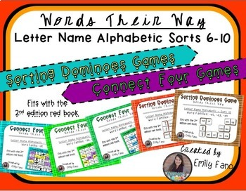 Words Their Way - GAME BUNDLE - Letter Name Alphabetic - Sorts 6 - 10