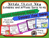Words Their Way - GAME BUNDLE - Syllables and Affixes - Sorts 41 - 45