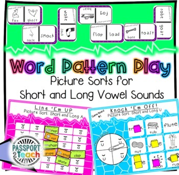 Words Their Way - GAME BUNDLE - Within Word Pattern - Sorts 1 - 5