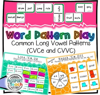 Words Their Way - GAME BUNDLE - Within Word Pattern - Sorts 11 - 15
