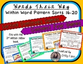 Words Their Way - GAME BUNDLE - Within Word Pattern - Sorts 16 - 20
