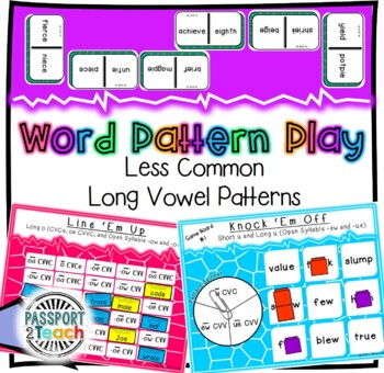 Words Their Way - GAME BUNDLE - Within Word Pattern - Sorts 21 - 25