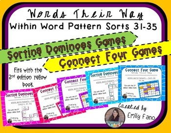 Words Their Way - GAME BUNDLE - Within Word Pattern - Sorts 31 - 35