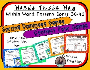 Words Their Way - GAME BUNDLE - Within Word Pattern - Sorts 36 - 40