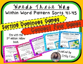 Words Their Way - GAME BUNDLE - Within Word Pattern - Sorts 41 - 45