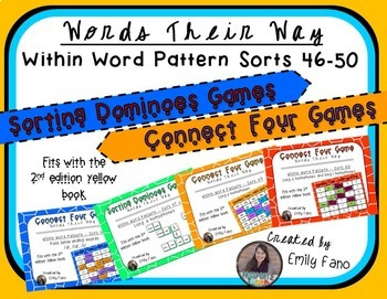 Words Their Way - GAME BUNDLE - Within Word Pattern - Sorts 46 - 50