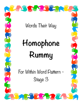 Words Their Way Game - Homophone Rummy