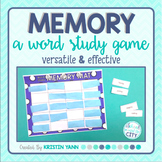 Word Study Game: Memory
