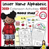 Letter Name Alphabetic Activities (Middle Stage)