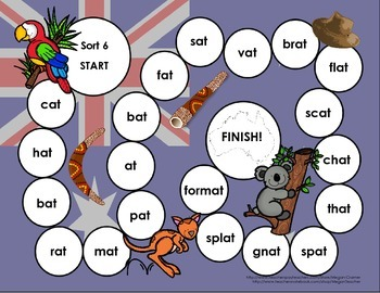 Words Their Way Games for Unit 2 Sorts 6-12 in Letter Name - Alphabetic Spellers