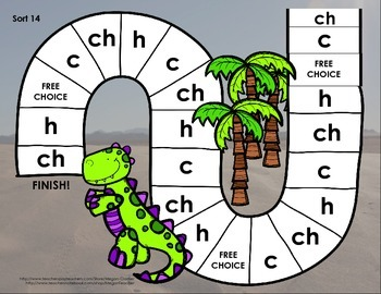 Words Their Way Games for Unit 3 Sorts 13-26 in Letter Name -Alphabetic Spellers
