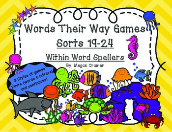 Words Their Way Games for Unit 4 Sorts 19-24 in Within Word Spellers