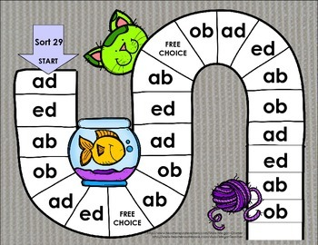 Words Their Way Games for Unit 4 Sorts 27-33 in Letter Name -Alphabetic Spellers