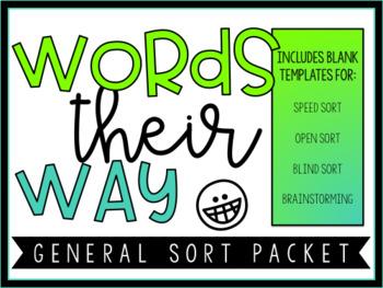 Words Their Way General Sort Packet