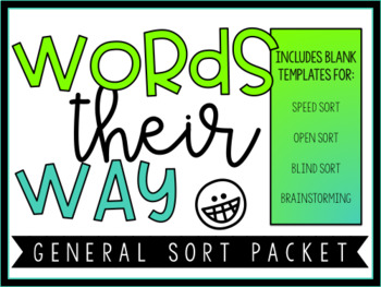 Words Their Way General Sort Packet by Diary of a 21st Century Teacher