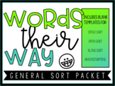 Words Their Way General Sort Packet