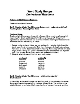 Expanding Vocabulary with Word Study at the Derivational ...