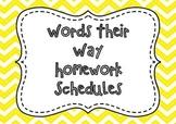 Words Their Way Homework Schedules