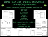 Words Their Way Homework - Syllables and Affixes #1-56 (Gr