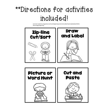 Picture Icons for Independent Practice for Word Work