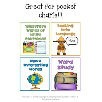 Picture Icons for Word Work Boards!