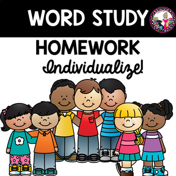 Words Their Way Individualized Homework for Letter Name Alphabetic Stage