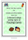 Words Their Way Inflected Endings Playing Cards