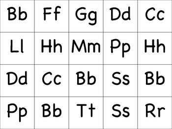 Words Their Way - Initial Consonants