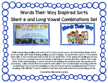 Words Their Way Inspired Sorts-Long Vowels