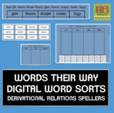 Words Their Way Digital Spelling Sorts - Derivational Relations
