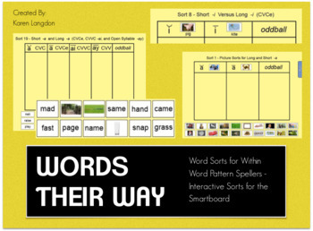 Words Their Way Interactive Sorts for the Smartboard - FOUR BOOKS Bundle!