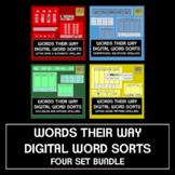 Words Their Way Digital Spelling Sorts - FOUR BOOKS Bundle!