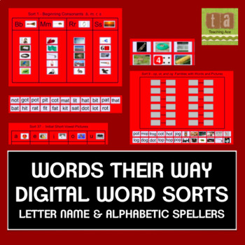 Words Their Way Interactive Sorts for the Smartboard - Letter Name & Alphabetic