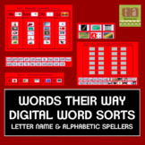 Words Their Way Digital Spelling Sorts - Letter Name & Alphabetic