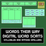 Words Their Way Digital Spelling Sorts - Syllables & Affixes
