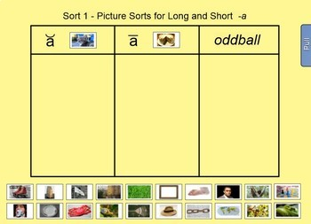 Words Their Way Interactive Sorts for the Smartboard -Within Word Pattern