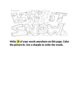 Words Their Way January Homework Booklet