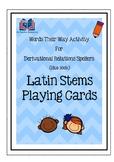 Words Their Way Latin Stem Cards