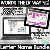 Words Their Way Letter Name Alphabetic Digital Sorts | 2nd Edition