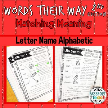 Words Their Way - Letter Name Alphabetic Matching Meaning