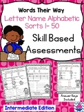 Words Their Way Letter Name Alphabetic Skill Based Assessments- Level 2