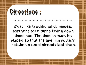 Words Their Way - Letter Name Alphabetic - Sort 10 Dominoes