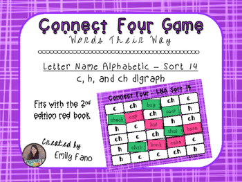 Words Their Way - Letter Name Alphabetic - Sort 14 Connect Four