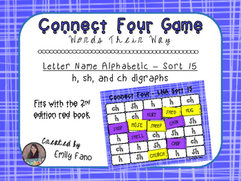 Words Their Way - Letter Name Alphabetic - Sort 15 Connect Four