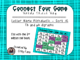 Words Their Way - Letter Name Alphabetic - Sort 16 Connect Four