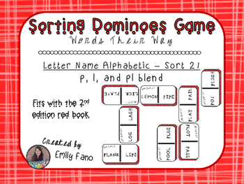 Words Their Way - Letter Name Alphabetic - Sort 21 Dominoes