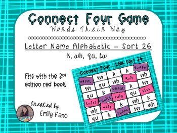 Words Their Way - Letter Name Alphabetic - Sort 26 Connect Four