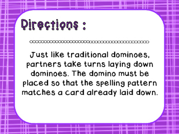 Words Their Way - Letter Name Alphabetic - Sort 34 Dominoes